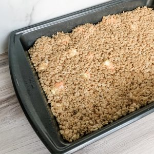 Caramel Candy Corn Rice Krispy Treats