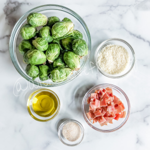 bacon garlic parmesan brussels sprouts ingredients