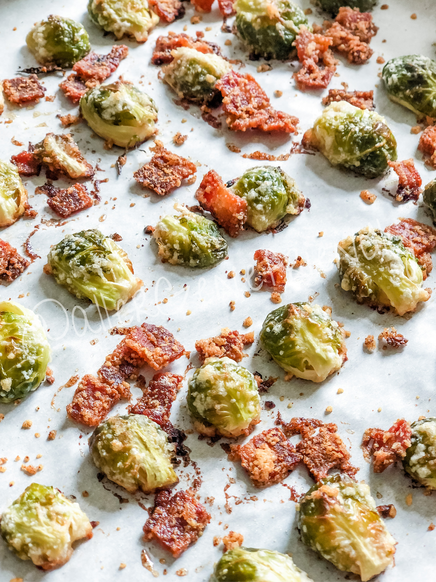 oven-roasted bacon parmesan brussels sprouts