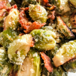 oven roasted bacon garlic parmesan brussels sprouts