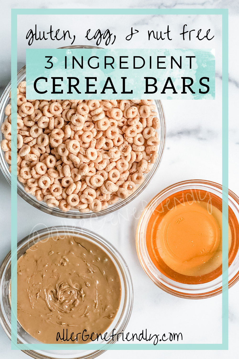 easy quick healthy 3 ingredient sunbutter cheerio cereal bars gluten free allergy friendly